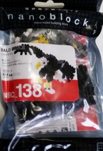 Bald Eagle Nanoblock Miniature Building Blocks NBC 138