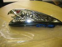 Harley Front Fender Ornament Eyes Light Eagle Head Gold Beak Chrome