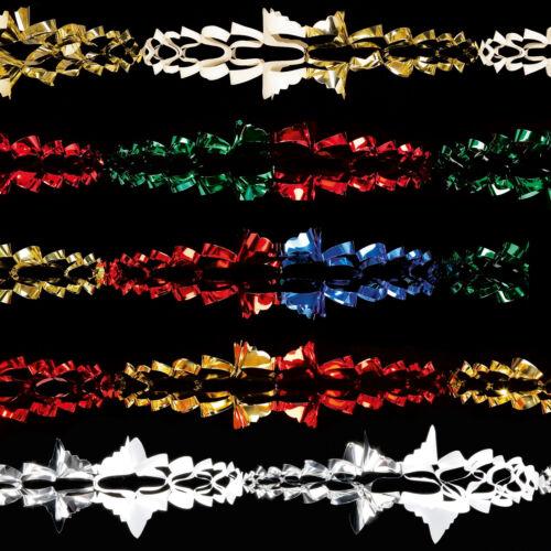 Choose Colour Christmas Foil Ceiling Decoration 6 Section 2.7m Garland