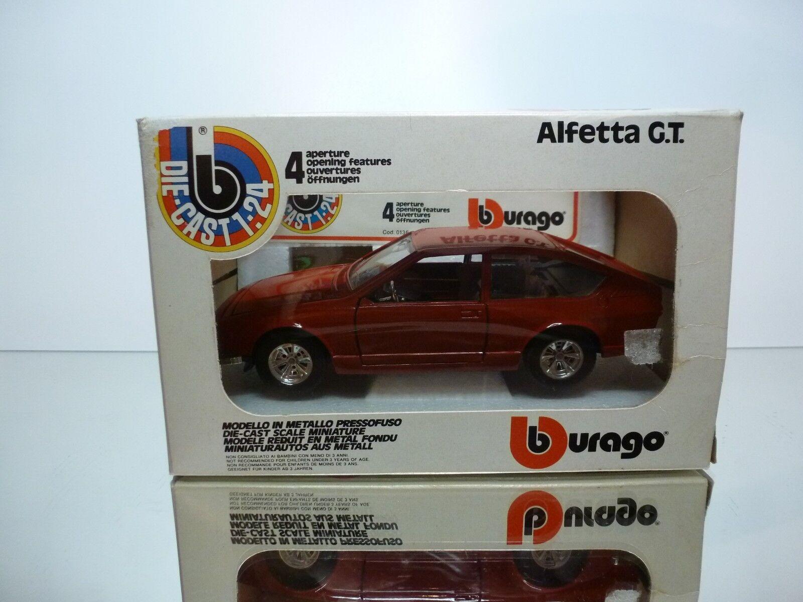 BBURAGO 0136 ALFA ROMEO ALFETTA GT - rosso 1 25 - VERY GOOD IN BOX
