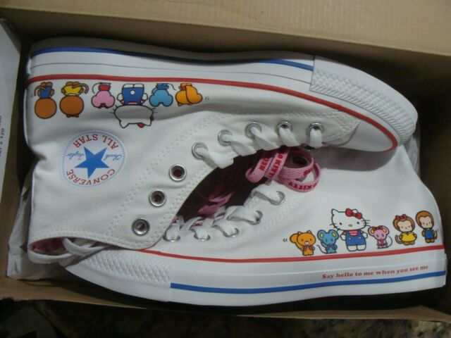 Converse Hello Kitty CTAS Hi Chuck Taylor All Star Shoes White 162944C Size 9