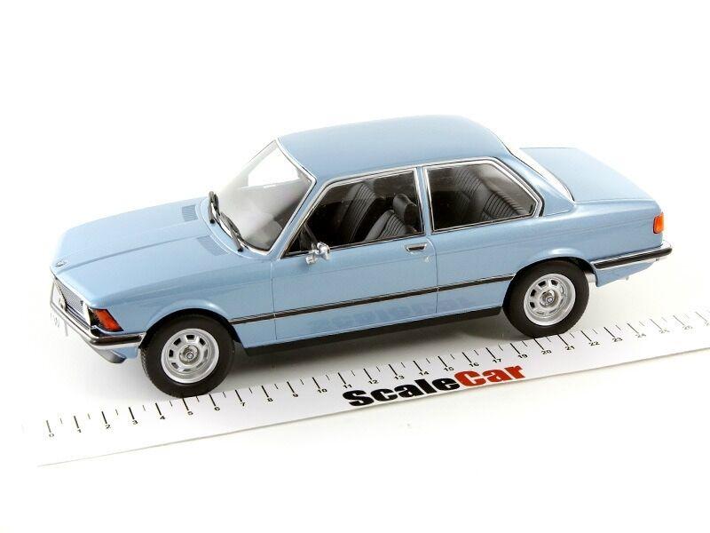 BMW 318i 3-Door Sports Coupe E21 Light blu Metallic 1975 KK SCALE 180042 1 18