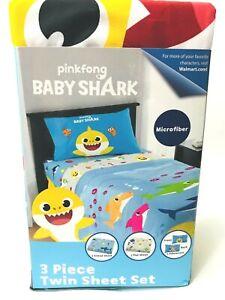 Kids Baby Shark 3 Piece Twin Sheet Set PinkFong Children's ...