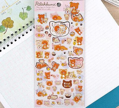 ~ *NEW San-x Rilakkuma Bear Sticker Sheet B Kawaii Cute Japan* ~ US SHIP + FAST