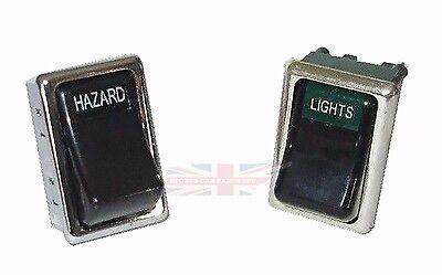 New Head Light Headlight + Hazard Switch for 1973-1976 MGB and 73-79 MG Midget