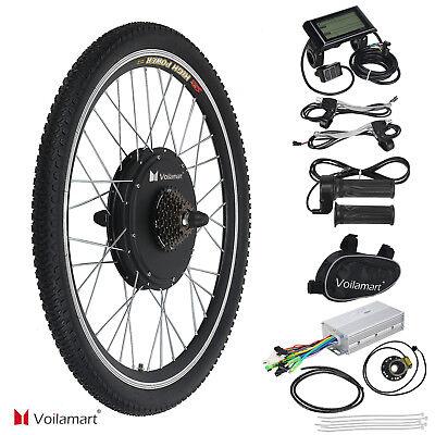 """26""""1000w Bicicleta Eléctrica Kit de Conversión Rueda Trasera Velocidad Moto LCD"""