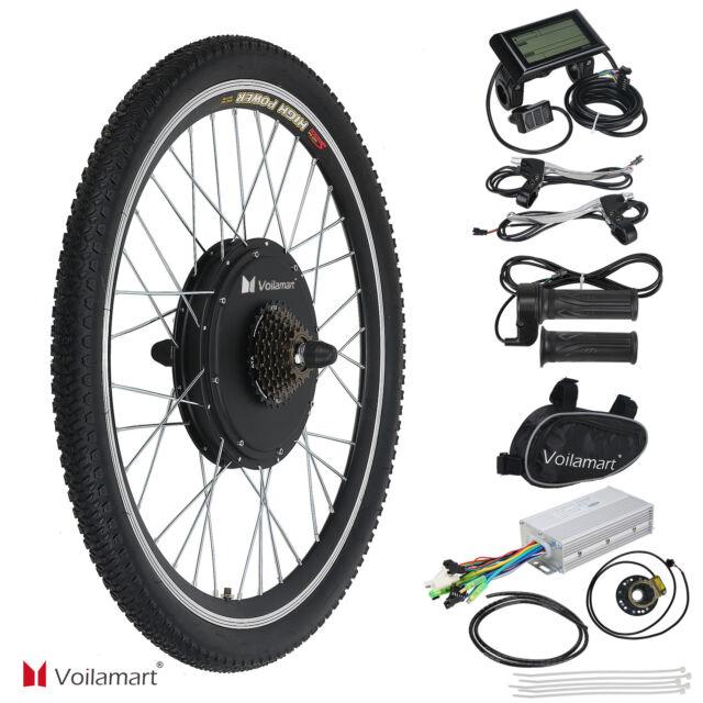 """1000W Bicicletta Elettrica Kit di Conversione Ruota Posteriore Velocità 26"""""""