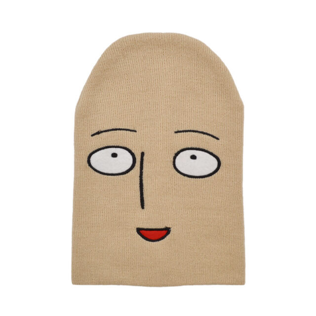 57fb947dd7d Knitted Hat Cosplay Winter Warm One Punch Man Embroidered Funny Anime  Saitama