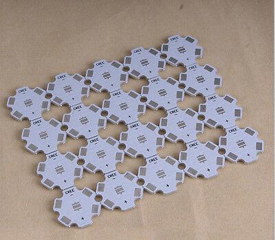 50pc x CREE XPE XPG 1W 3W 5W LED PCB Alu 20mm Star base plate Circuit board DIY