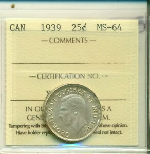 ICCS-Canada-1939-25-cents-MS-64-XVI-049