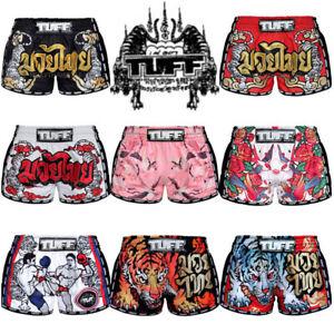 TUFF-Muay-Thai-Boxing-Shorts-Retro-Style-MMA-Shorts-Training-Gym-Fitness