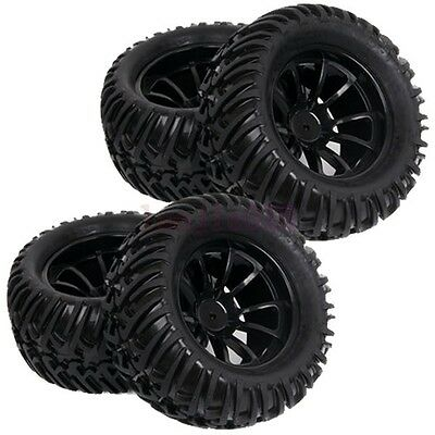 RC 1:10 Off-Road Monster Bigfoot Truck Foam Rubber Tyres Tires & Wheel Rim 88010
