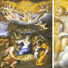 """31""""x40"""" THE ADORATION OF THE SHEPHERDS by FRENCH SCHOOL MASTERS Repro CANVAS"""