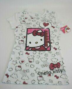 Hello-Kitty-Sanrio-White-Short-Sleeve-T-Shirt-Sz-XL-Youth-Girls