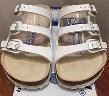 Birkenstock Florida 054061 size 39/L8M6 R White Soft Footbed Birko-Flor Sandals