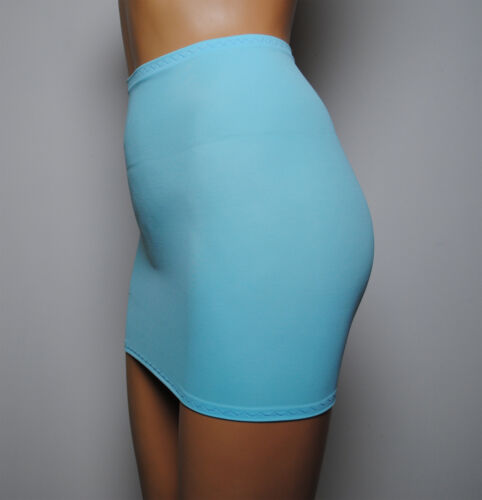 """Pale Blue Mini Skirt Stretch Womens Party Club Bodycon 12/"""" Short Holiday  S120"""