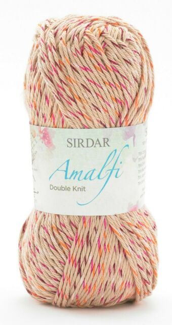 Sirdar Amalfi 757 Capri 10 X 50 gram balls royal blue mix Dk Double Knit Cotton