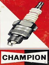 CHAMPION Sign Man Grotta garage rimessa regalo vintage officina meccanico auto