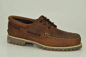 Timberland-Classic-Casual-Handsewn-3-Eye-Boat-Shoes-Herren-Schnuerschuhe-A1UJ9