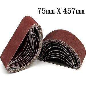 20pcs-Poncage-Ceinture-Bande-Abrasive-pour-Ponceuse-Grain-Bois-75X457mm