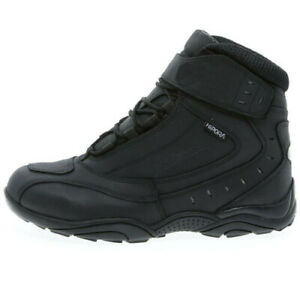 RH-TOURING-WATERPROOF-LEATHER-BOOTS-MOTORCYCLE-MOTORBIKE-ALL-SIZES-SHORT-ANKLE