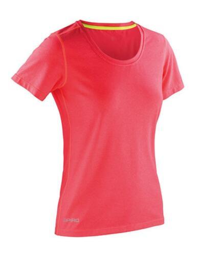 Komfortable PassformSPIRO Damen Fitness T-Shirt Shiny Marl