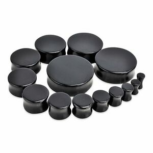 """PAIR Solid Color Saddle Plugs 8g,6g,4g,2g,0g,00g,1//2/"""",9//16/"""",5//8/"""",3//4/"""",7//8/"""",1/"""""""