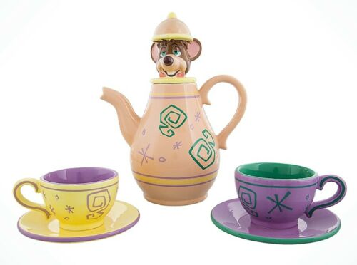 Disney Alice in Wonderland Dormouse Mad Tea Party Teapot Cup Saucer Set