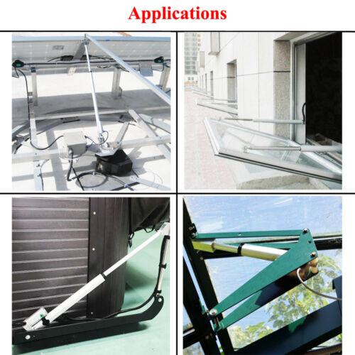 Linear Actuator 12V Heavy Duty 1500N 330lbs Lift Brackets Auto Motor Car Solar