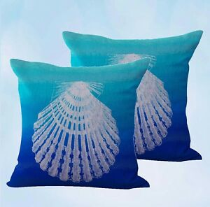set-of-2-scallop-seashell-beach-nautical-cushion-cover-decorative