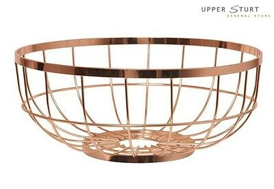 Fruit Basket - Metal Grid Copper Trendy Home Copper FAST N FREE DELIVERY