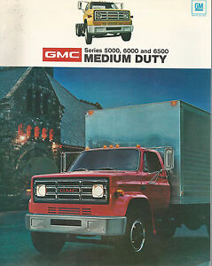 General motors medium duty truck series 5000 6000 6500 1974 brochure gm trucks ebay General motors medium duty trucks