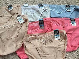 NEW Vanity Fair Bikini /Briefs Size 5/Small( lot of 7 pairs) Multi Color,Cotton