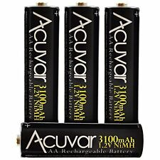4 Acuvar High-Capacity AA Rechargeable Battery 3100mAh NiMH
