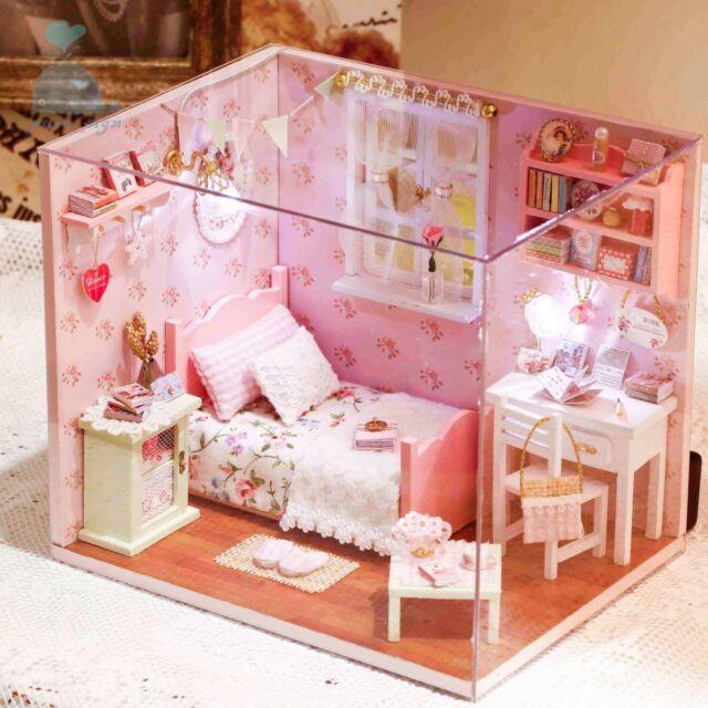 Progetto fai da te Handcraft in miniatura casa delle bambole My Little Angels Camera Da Letto Rosa 2017
