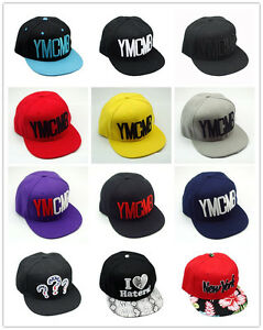 a589fbd7309 Unisex New Black YMCMB Snapback Hip-Hop Hats adjustable Baseball Cap ...