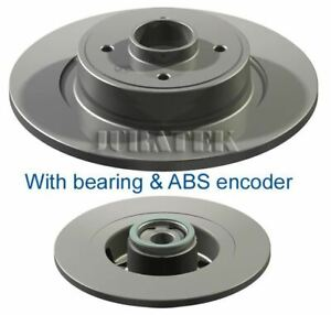 RENAULT GRAND SCENIC 2004ON REAR BRAKE DISC WITH BEARING FITTED ABS RING /& PADS