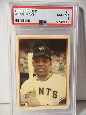 1985 Topps Circle K All Time Home Run Kings #3 Willie Mays Baseball Card