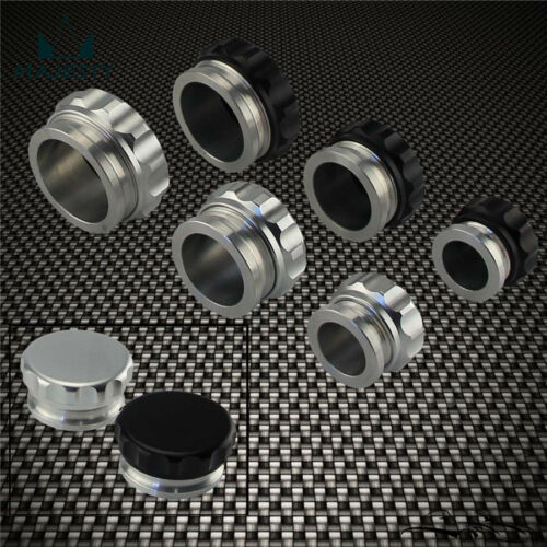 "Fuel Water Tank BK 2Pcs 1.5/"" 38.1mm Aluminium Weld On Filler Neck And Cap Oil"