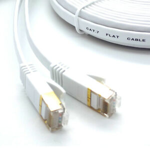 RJ45-Cat7-Reseau-Ethernet-LAN-Cable-Plaque-or-ultra-mince-plat-Patch-plomb-Lot