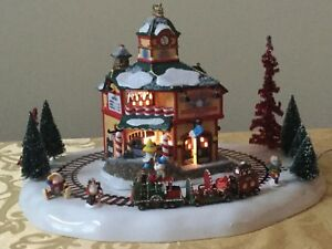north star commuter train station department dept 56 north pole village works - Cousin Eddie Christmas Decoration
