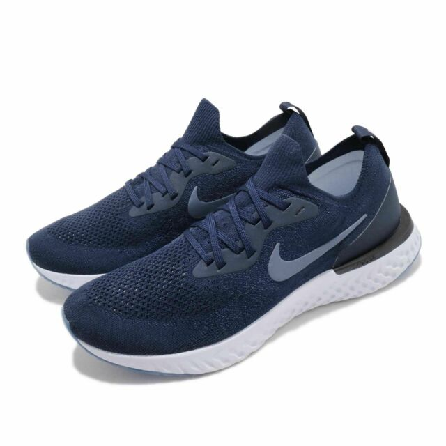 quality design b486b 35fe7 Nike Epic React Flyknit Navy Diffused Blue Running Shoes AQ0067-402 Men's  NEW