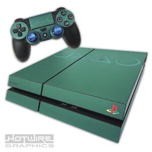 Playstation-4-PS4-Skin-Sticker-Kit-Coloured-Logo-Skin-SOFT-GREEN-Unique-Vinyl