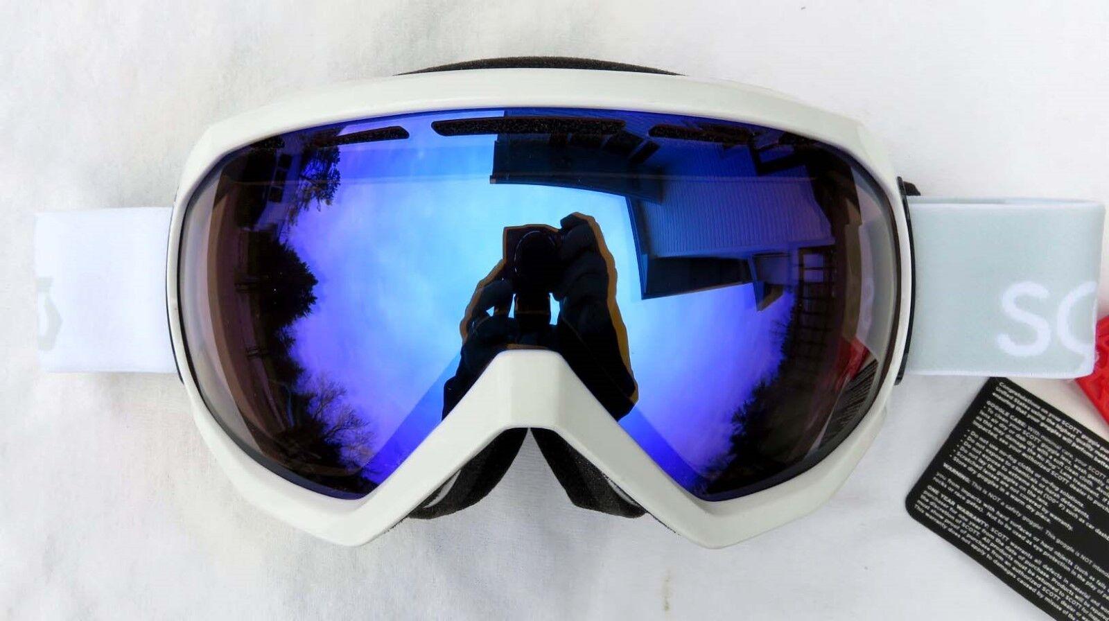 NEW  120 Scott Mens Notice OTG Over The Glasses White Ski Goggles Illuminator 50