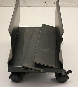CPU Ständer rollbar - PC-Ständer rollbar - schwarz 89-210mm Breite einstellbar