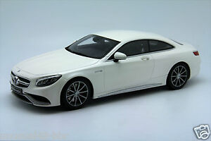1-18-GT-Spirit-Mercedes-S63-Coupe-AMG-Dealer-Edition-White-Free-Shipping