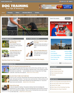 Details about DOG TRAINING - Responsive Niche Website Business For Sale -  Free Installation