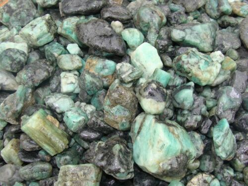 3000 Carat Lots of Unsearched Natural Emerald Rough a FREE Faceted Gemstone
