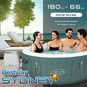 Bestway Lay-Z-Spa Inflatable Spa Heated Hot Tub Spa Massage SYDNEY 2 to 4 People