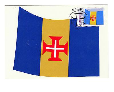 Europa Trendmarkierung Portugal Fdc Ersttagsbrief Karte 1983 Madeira Flagge Mi.nr.85